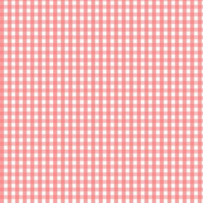 tiny gingham coral