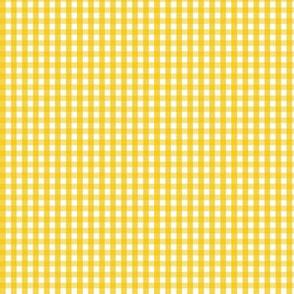tiny gingham mustard yellow
