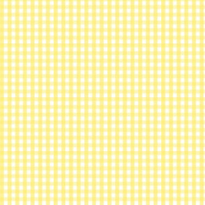 tiny gingham lemon yellow