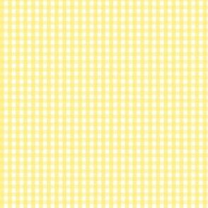 tiny gingham lemon yellow