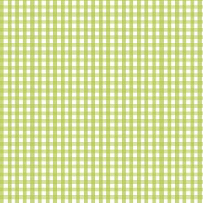 tiny gingham lime green
