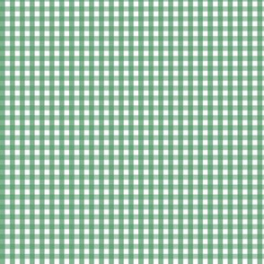 tiny gingham kelly green