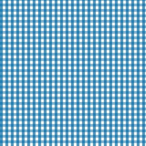 tiny gingham royal blue