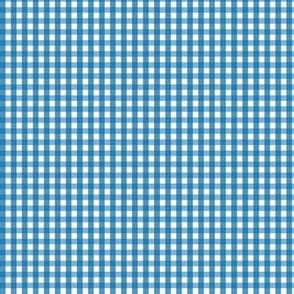 tiny gingham royal blue