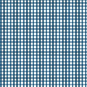 tiny gingham navy blue