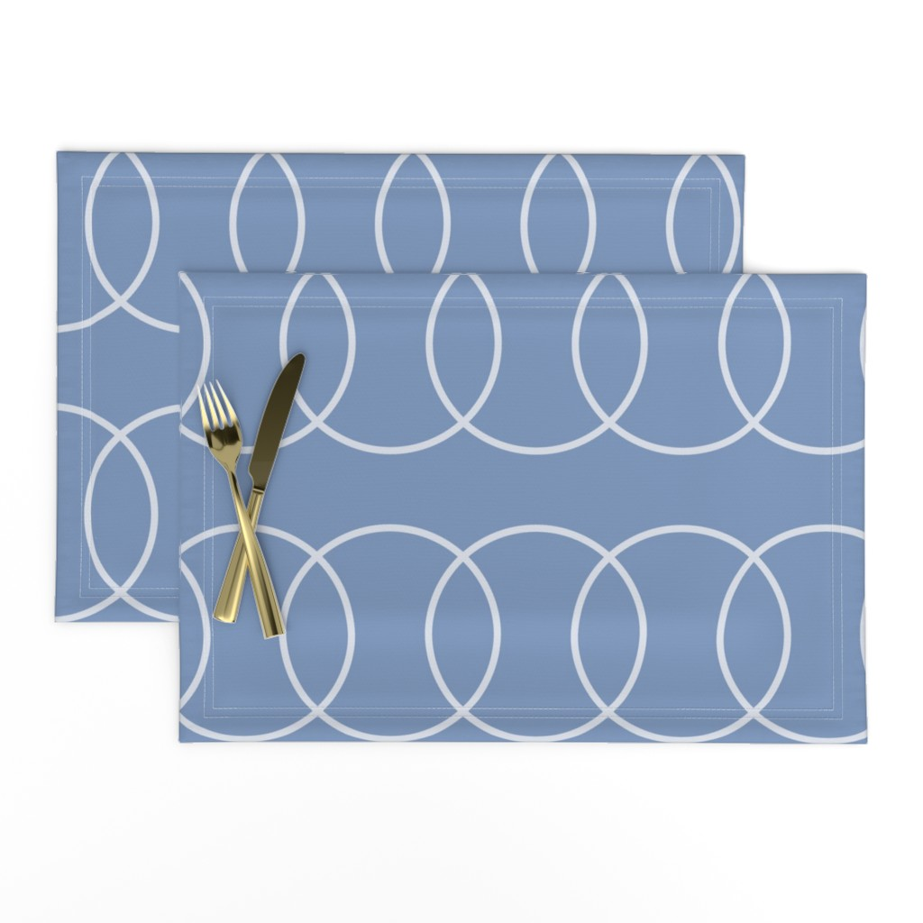 Lamona Cloth Placemats featuring Blue Bubble Abstract by creativeinchi
