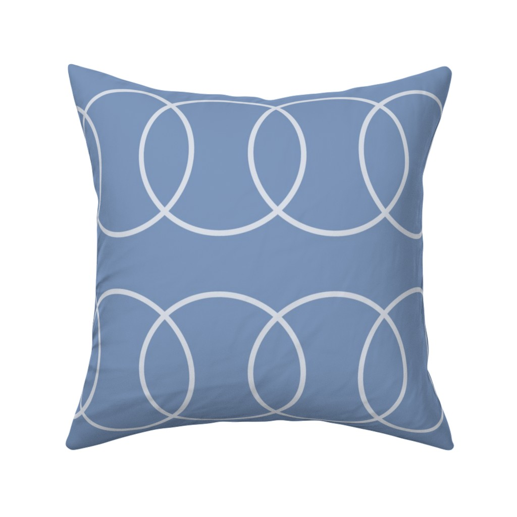Catalan Throw Pillow featuring Blue Bubble Abstract by creativeinchi