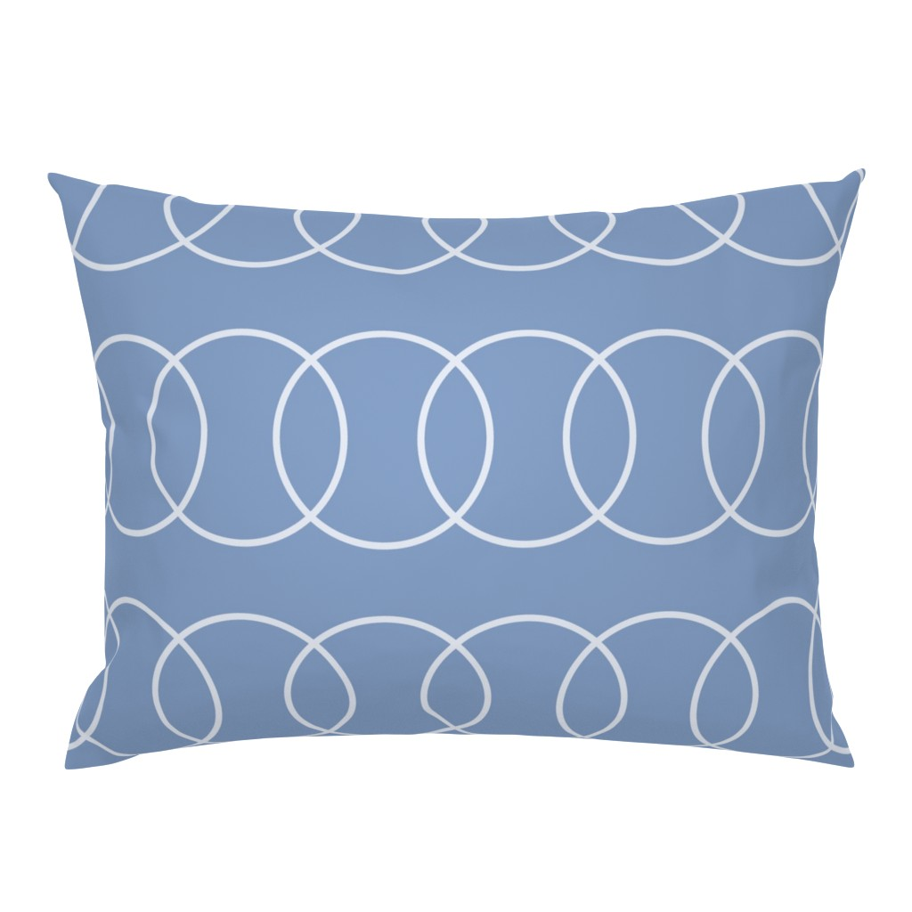 Campine Pillow Sham featuring Blue Bubble Abstract by creativeinchi