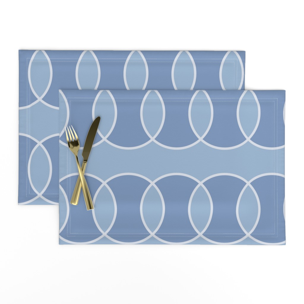Lamona Cloth Placemats featuring Blue Bubbly Abstract by creativeinchi