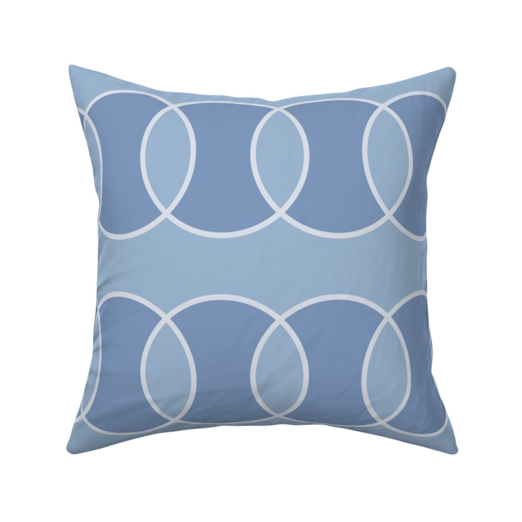 Catalan Throw Pillow featuring Blue Bubbly Abstract by creativeinchi
