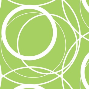 Swirly Whirly Random Circles -green
