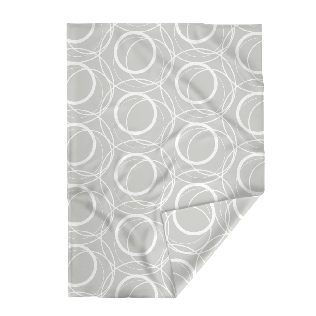 Lakenvelder Throw Blanket featuring Swirly Whirly Random Circles -grey by creativeinchi