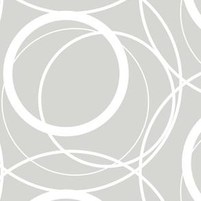 Swirly Whirly Random Circles -grey