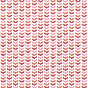 {everyday} herringbone pink orange red