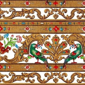 Parrot Damask ~ Border Strip