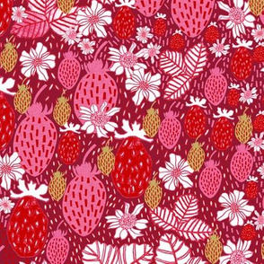 Strawberry Field Floral - LARGE