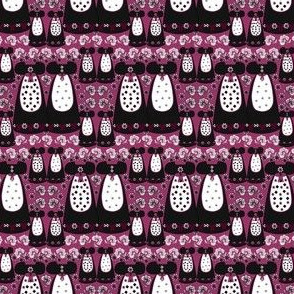 Victorian Long Black and Burgundy Dresses Collage Fabric