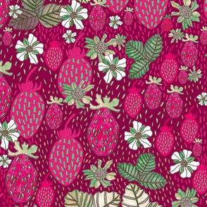 Red & Magenta Berries - LARGE