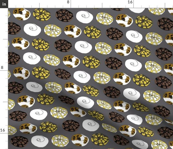 Fabric by the Yard Ball Python Morphs