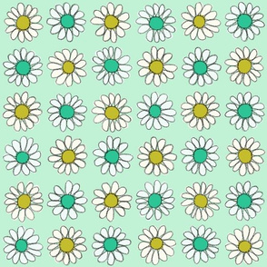 Daisy | Gold\Teal\Mint
