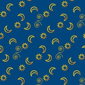 Moon and Stars Random