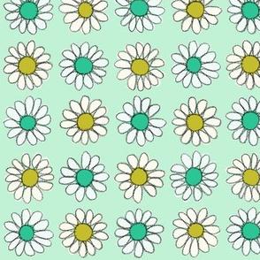 Retro Daisy | Gold/Teal/Mint