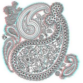 3D VictoriAnaglyph Paisley - Miss Mattie