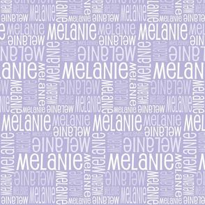 Personalised Name Fabric - Lavender