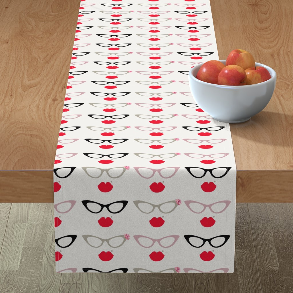Minorca Table Runner featuring Specs by monpetitchoubh