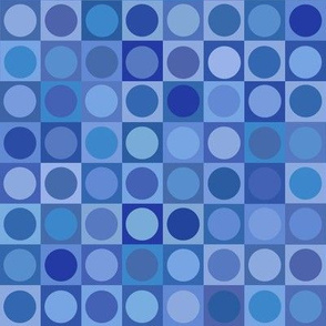 serene blue circles and squares