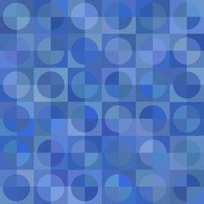 serene blue rainfall circles and squares