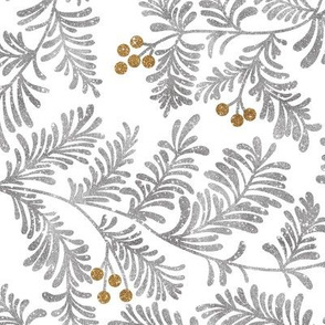 Glitter branches- Silver and Gold