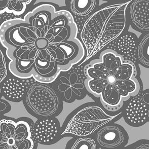 Fairies Forest Garden - Gray