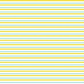 Lemon Blue-Aqua Yellow and White Stripe