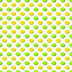 Lemon Lime Dot on white