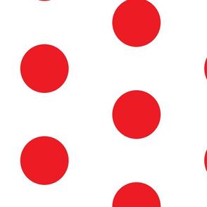 Giant Dot Red on White