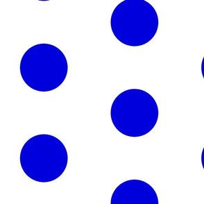 Giant Dot Blue on White