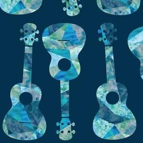 Ukulele Watercolor - Blue