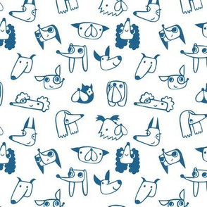 love all dogs - blue