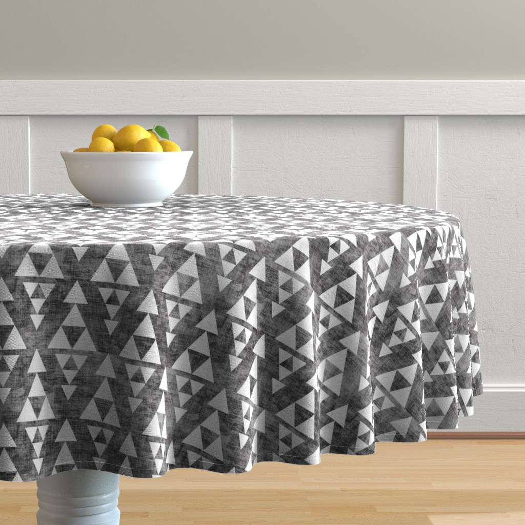 Malay Round Tablecloth featuring stacked by holli_zollinger