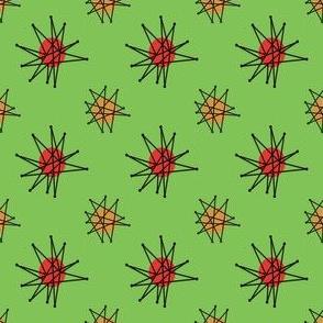 Atomic Halloween - Green Starburst