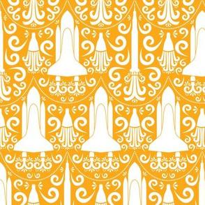 Rocket Science Damask (Light Orange)
