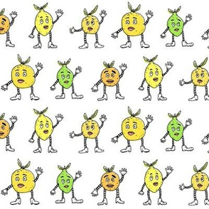 Funny Fancy Citrus Fruits | White Background