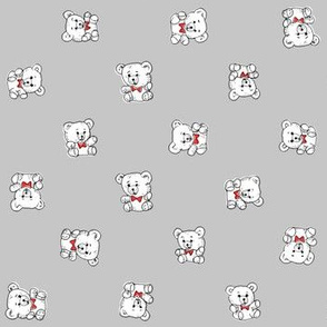 Bow Tie Teddy Bears | Grey