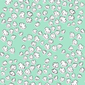 Popcorn Clouds | Aqua Green