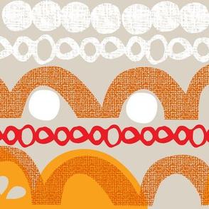 citrus slice stripe - orange
