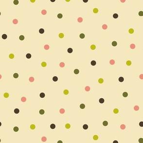 Dim Sum polka dots on cream