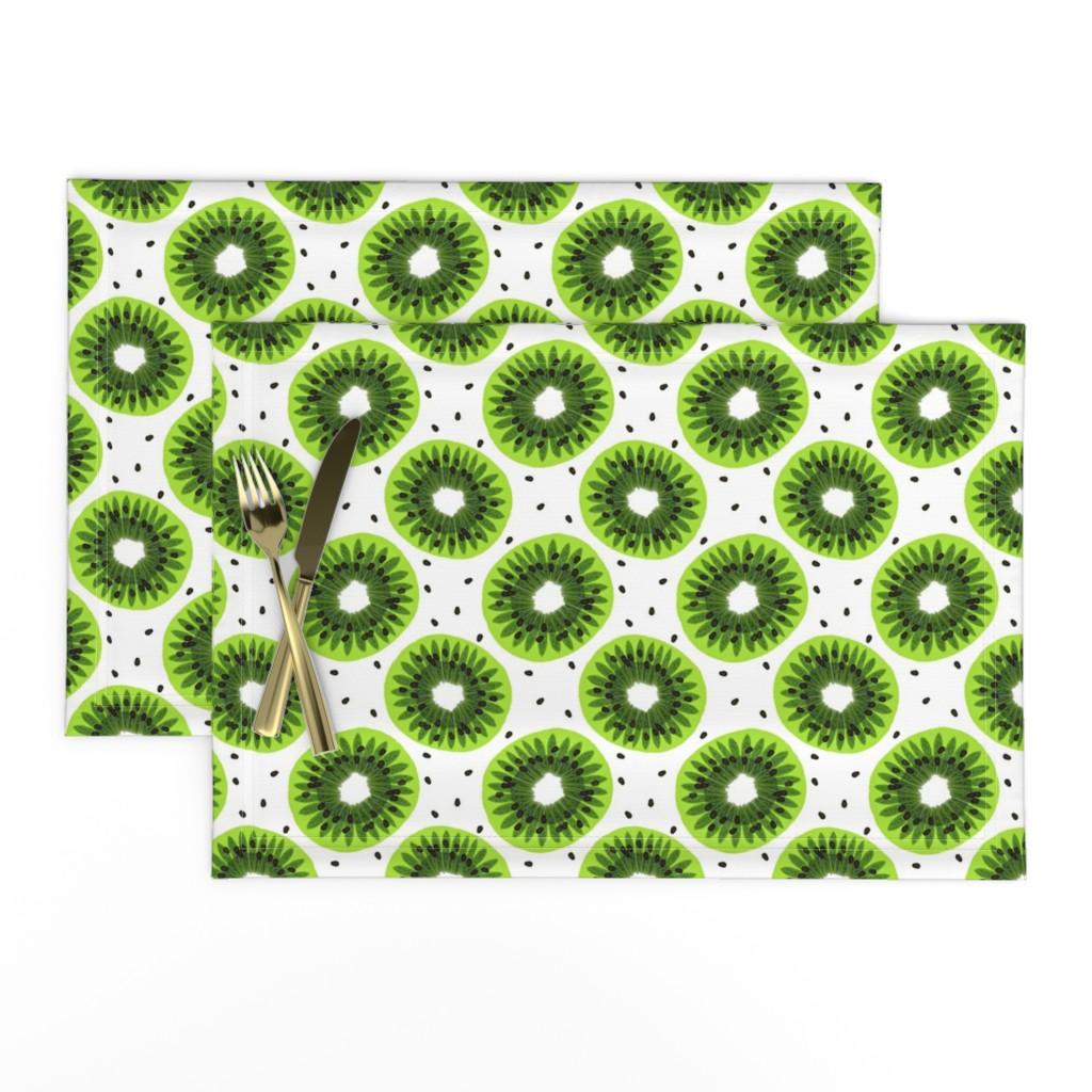Lamona Cloth Placemats featuring kiwi by uramarinka