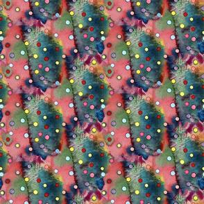 Watercolor Poke a Dots