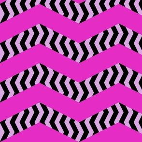 mad chevrons - blushing zebra